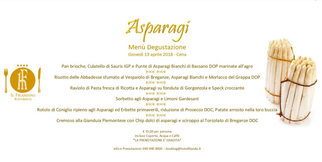 asparagi menu degustazione