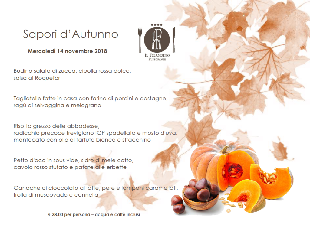 menu speciale autunno 2018